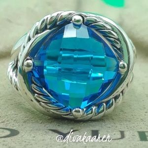 DAVID YURMAN BLUE TOPAZ INFINITY RING